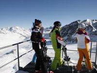 Allenamento di sci in autunno