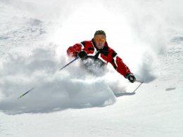 Sciare sul ghiacciaio Val Senales